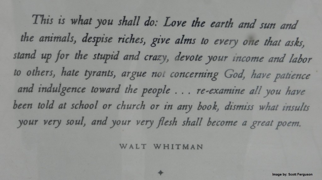 Walt Whitman Genius Poet